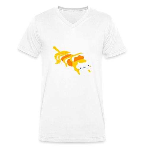 Cat sandwich Gatto sandwich - T-shirt ecologica da uomo con scollo a V di Stanley & Stella