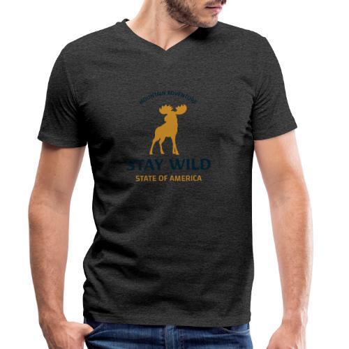 Stay Wild - Männer Bio-T-Shirt mit V-Ausschnitt von Stanley & Stella