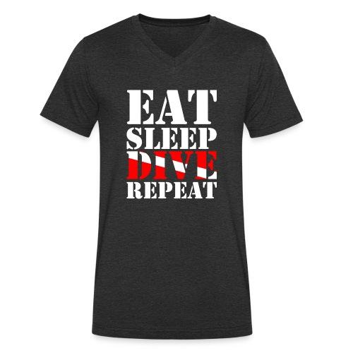 Eat Sleep Dive Repeat - Männer Bio-T-Shirt mit V-Ausschnitt von Stanley & Stella