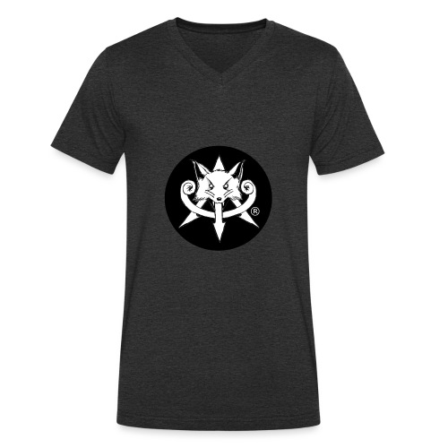 Official Attention Logo Merch - Men's Organic V-Neck T-Shirt by Stanley & Stella