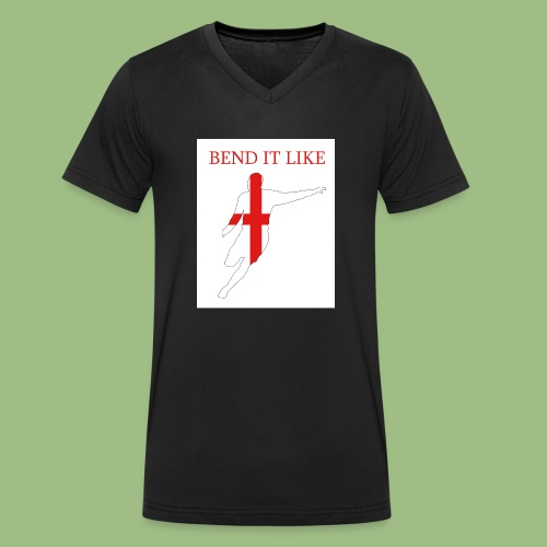 Bend It Like DavidBeckham - Ekologisk T-shirt med V-ringning herr från Stanley & Stella