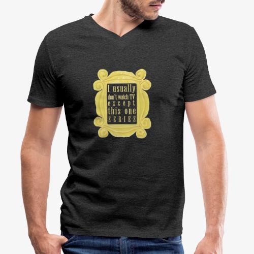 dla tych co lubią serial(e) - Ekologiczna koszulka męska z dekoltem w serek Stanley & Stella
