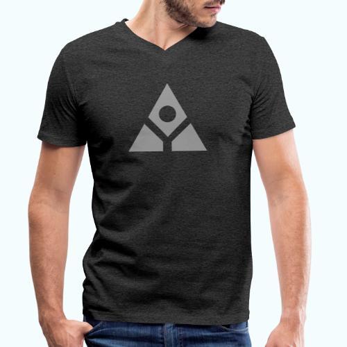 Sacred geometry gray pyramid circle in balance - Men's Organic V-Neck T-Shirt by Stanley & Stella