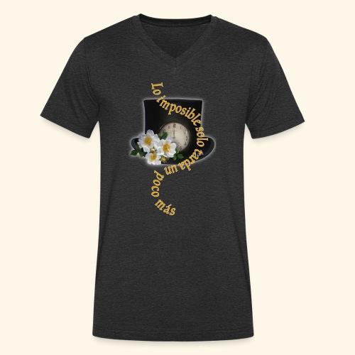 LO IMPOSIBLE - Camiseta ecológica hombre con cuello de pico de Stanley & Stella