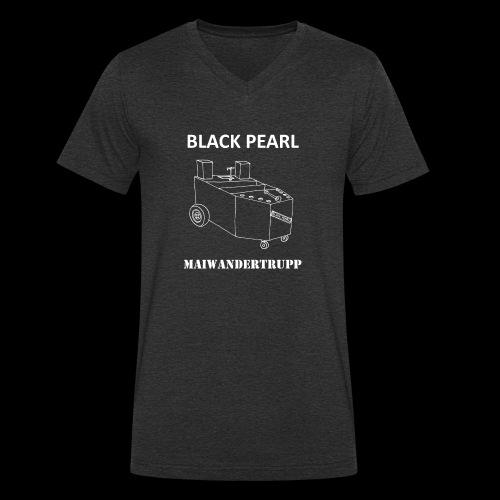 Bollerwagenemblem + MAIWANDERTRUPP in weiß - Männer Bio-T-Shirt mit V-Ausschnitt von Stanley & Stella