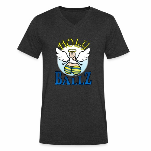 Holy Ballz Charlie - Men's Organic V-Neck T-Shirt by Stanley & Stella