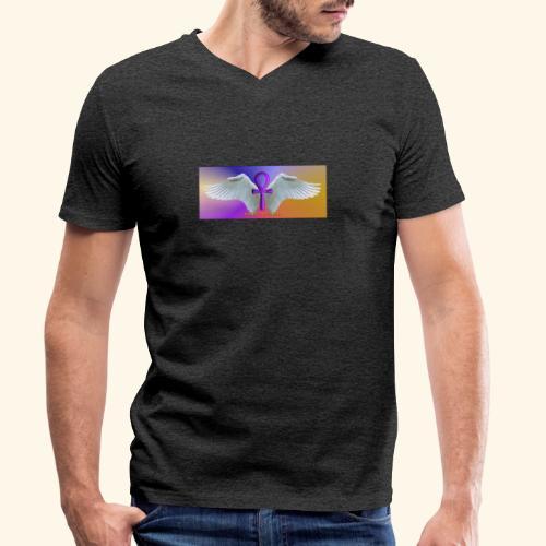 ANKH Logo - Männer Bio-T-Shirt mit V-Ausschnitt von Stanley & Stella