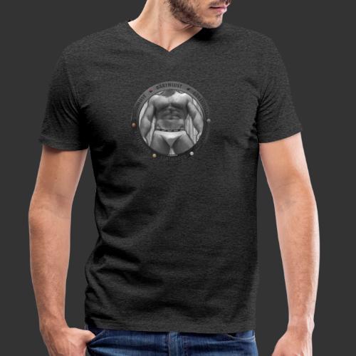 Bullauge meets Bärenlust - Männer Bio-T-Shirt mit V-Ausschnitt von Stanley & Stella