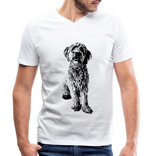 Golden Doodle Hunde Design Geschenkidee - Männer Bio-T-Shirt mit V-Ausschnitt von Stanley & Stella
