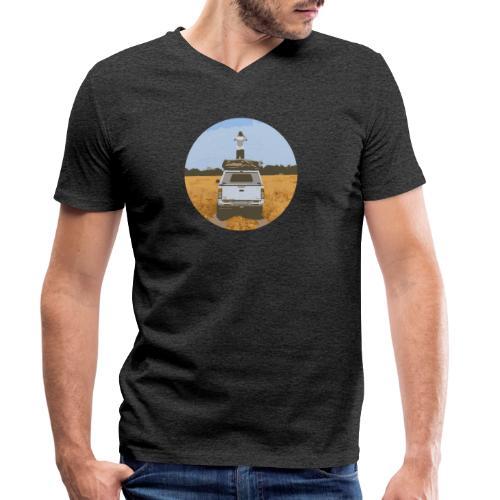 Off road - Mannen bio T-shirt met V-hals van Stanley & Stella