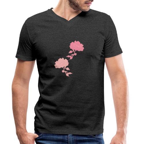 romance isn't dead Rosen - Männer Bio-T-Shirt mit V-Ausschnitt von Stanley & Stella