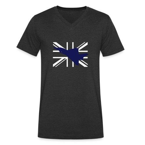ukflagsmlWhite - Men's Organic V-Neck T-Shirt by Stanley & Stella