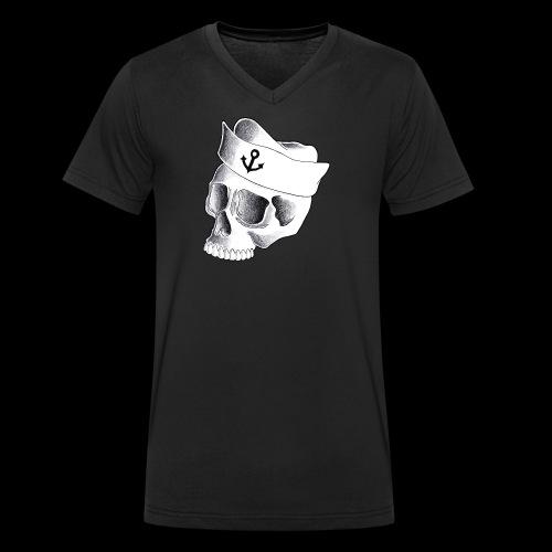 Teschio Marinaio - T-shirt ecologica da uomo con scollo a V di Stanley & Stella