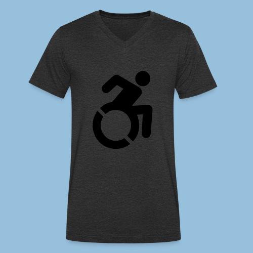New WheelChair Logo 001 - Mannen bio T-shirt met V-hals van Stanley & Stella