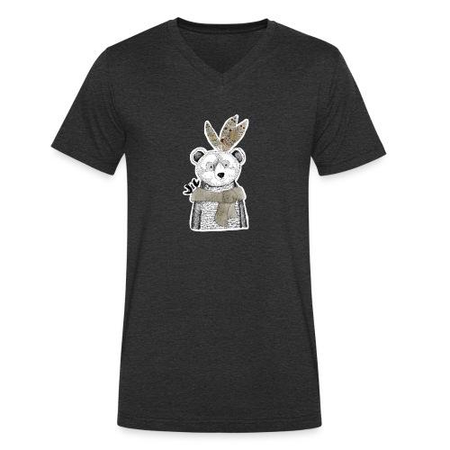 Mr. Bear - Männer Bio-T-Shirt mit V-Ausschnitt von Stanley & Stella