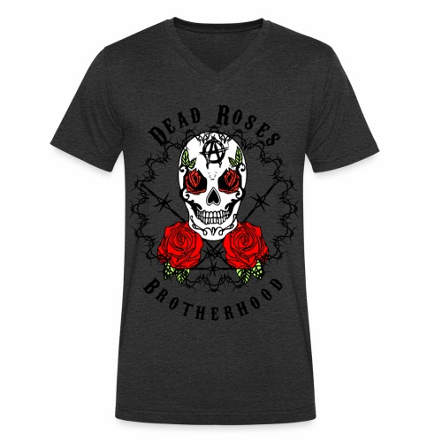 Dead Roses 2nd Logo - Men's Organic V-Neck T-Shirt by Stanley & Stella