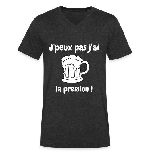 j'peux pas j'ai la pression - T-shirt bio col V Stanley & Stella Homme