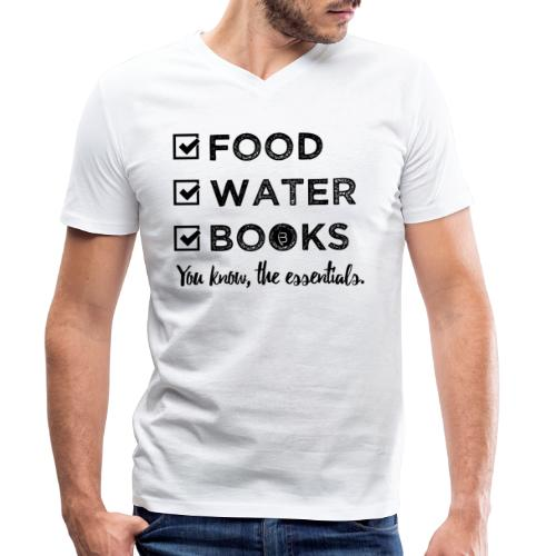 0261 Books, Water & Food - You understand? - Men's Organic V-Neck T-Shirt by Stanley & Stella