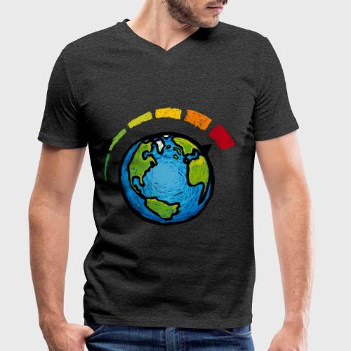 Urgence Climatique - T-shirt bio col V Stanley & Stella Homme