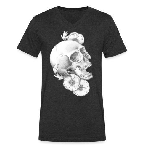 poppy skull - Männer Bio-T-Shirt mit V-Ausschnitt von Stanley & Stella