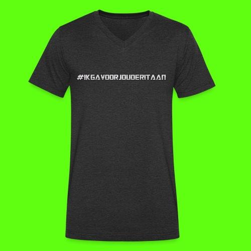 NIEUW! #IK GA VOOR JOU DE RIT AAN - Mannen bio T-shirt met V-hals van Stanley & Stella