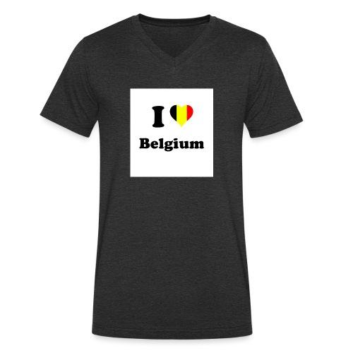 i love belgium - Mannen bio T-shirt met V-hals van Stanley & Stella