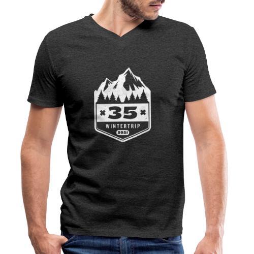 35 ✕ WINTERTRIP ✕ 2021 - Mannen bio T-shirt met V-hals van Stanley & Stella