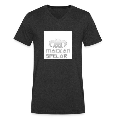 Mackanspelar 5/5s skal vit - Ekologisk T-shirt med V-ringning herr från Stanley & Stella