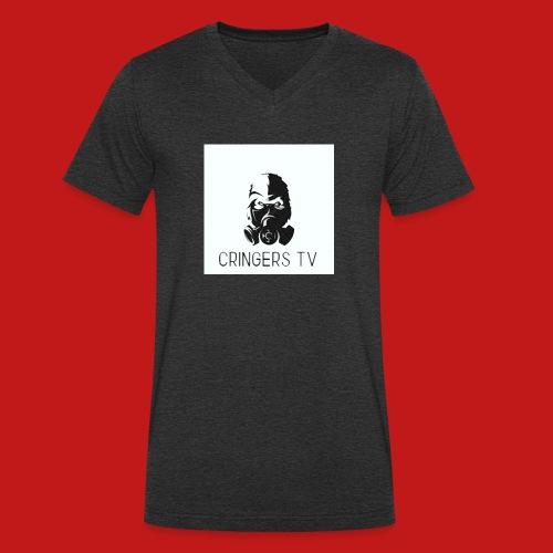 Original Cringers Tv Logga - Ekologisk T-shirt med V-ringning herr från Stanley & Stella