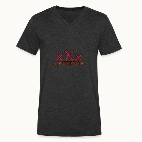Amsterdam xXx - Männer Bio-T-Shirt mit V-Ausschnitt von Stanley & Stella