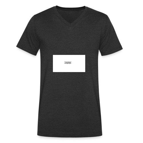 longitude - Men's Organic V-Neck T-Shirt by Stanley & Stella