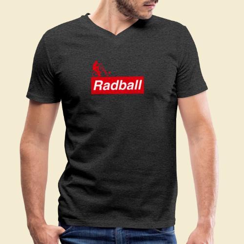 Radball | Red - Männer Bio-T-Shirt mit V-Ausschnitt von Stanley & Stella