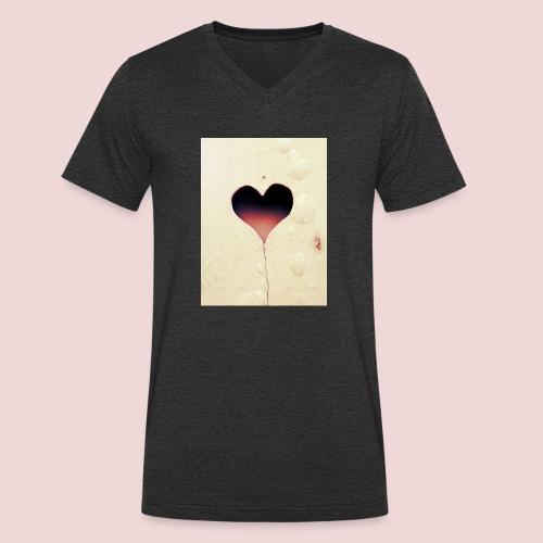 Liebe - Männer Bio-T-Shirt mit V-Ausschnitt von Stanley & Stella