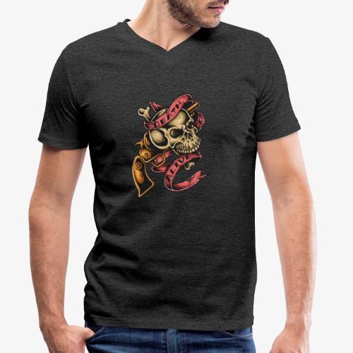 Death Or Alive - T-shirt bio col V Stanley & Stella Homme