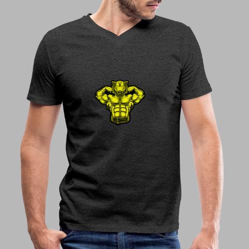 Bodybuilder Wolf - Männer Bio-T-Shirt mit V-Ausschnitt von Stanley & Stella