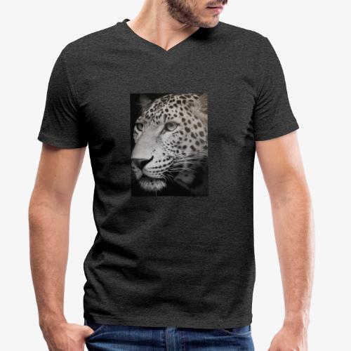 Schwarzer Tiger - Männer Bio-T-Shirt mit V-Ausschnitt von Stanley & Stella
