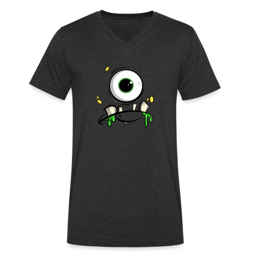 Monster Gesicht - Männer Bio-T-Shirt mit V-Ausschnitt von Stanley & Stella