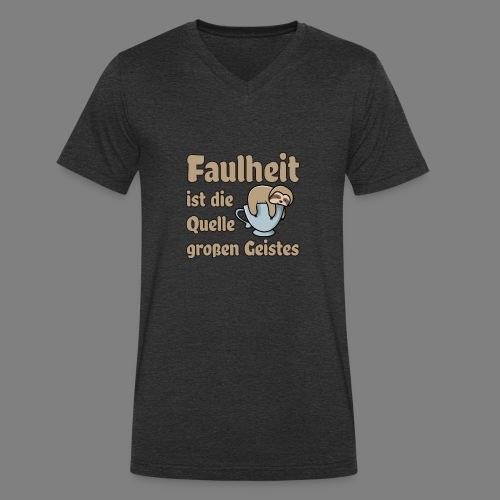 Faulheit - Männer Bio-T-Shirt mit V-Ausschnitt von Stanley & Stella