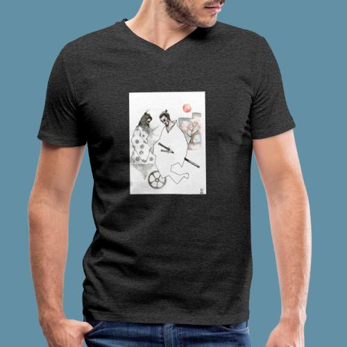 Samurai copia jpg - T-shirt ecologica da uomo con scollo a V di Stanley & Stella