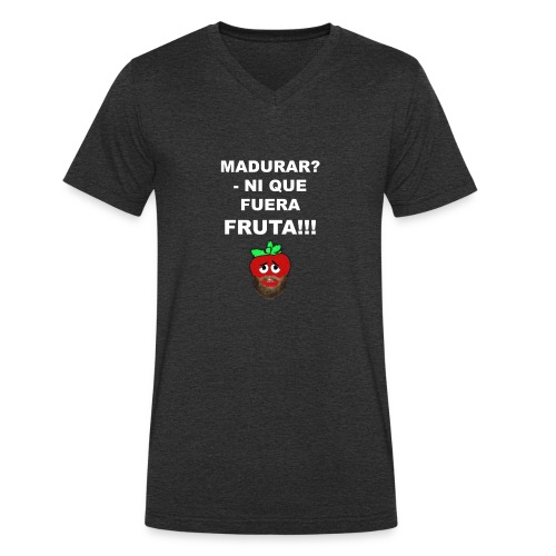 FRUTA - Camiseta ecológica hombre con cuello de pico de Stanley & Stella