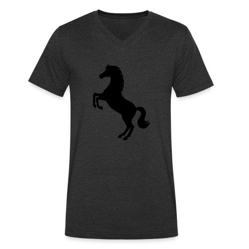 Pferd steigend - Männer Bio-T-Shirt mit V-Ausschnitt von Stanley & Stella