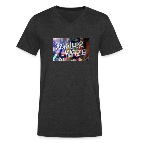 Abkiller Katze - Männer Bio-T-Shirt mit V-Ausschnitt von Stanley & Stella