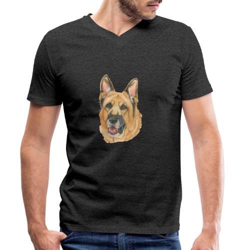 german shepherd color - Økologisk Stanley & Stella T-shirt med V-udskæring til herrer