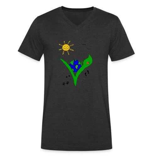 Ein Logo geht um die Welt - Männer Bio-T-Shirt mit V-Ausschnitt von Stanley & Stella