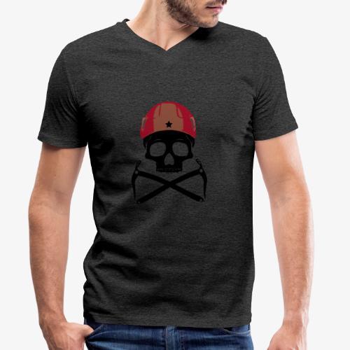 Climber Pirats skull black - Climbing Pirates - Men's Organic V-Neck T-Shirt by Stanley & Stella