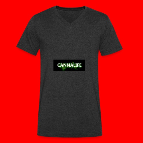 Cannalife - Økologisk Stanley & Stella T-shirt med V-udskæring til herrer