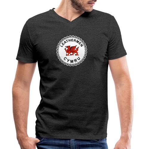 LeatherMen Cymru Logo - Men's Organic V-Neck T-Shirt by Stanley & Stella