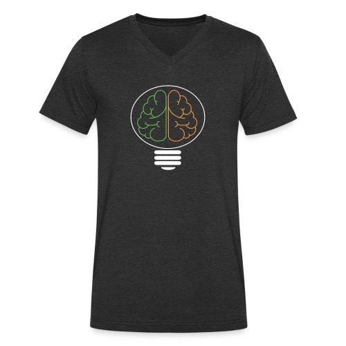 Hirnlampe weiß png - Männer Bio-T-Shirt mit V-Ausschnitt von Stanley & Stella