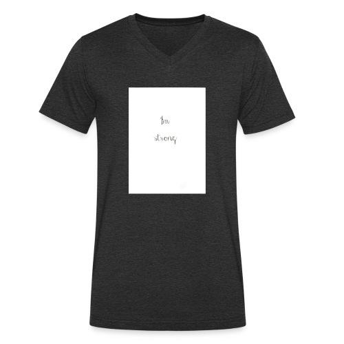 I'm strong - T-shirt ecologica da uomo con scollo a V di Stanley & Stella