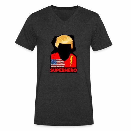 Super Donald / Orange Trump Tear-strappo - T-shirt ecologica da uomo con scollo a V di Stanley & Stella